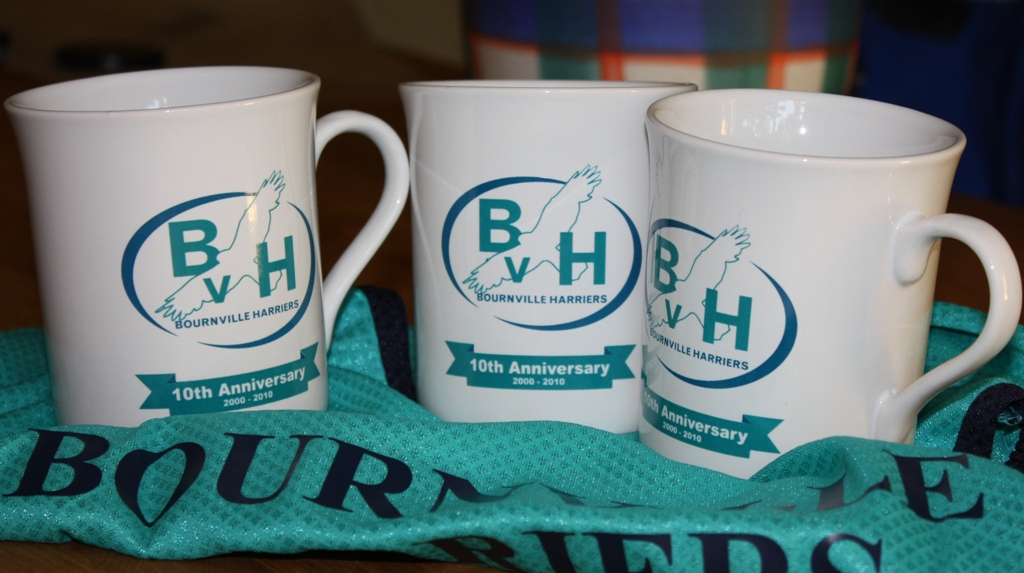 Bvh Anniversary Mugs Bournville Harriers