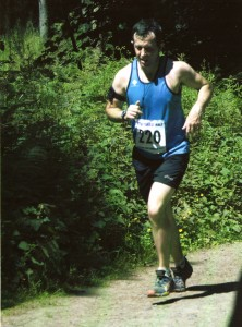 Mark finishing the Wyre Forest Half