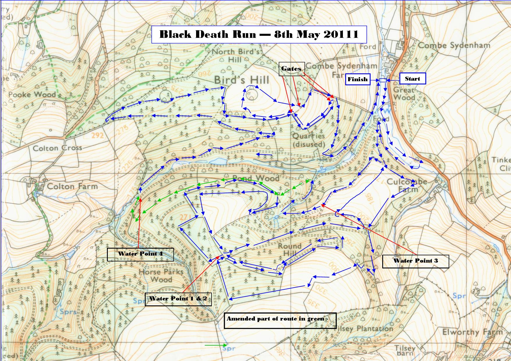 Black death map of deaths