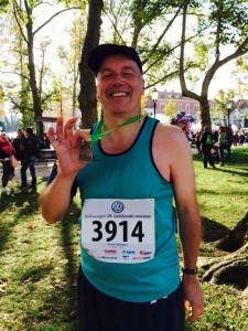 Steve Doswell Ljubljana Half 2014 Medal shot