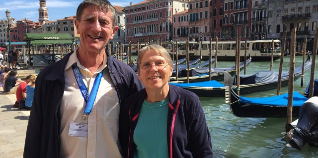 Barrie and Katie Roberts by the Grand Canal Venice