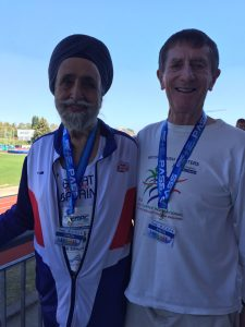 Barrie with Dalbir Singh Deol at EMAC at Jesolo