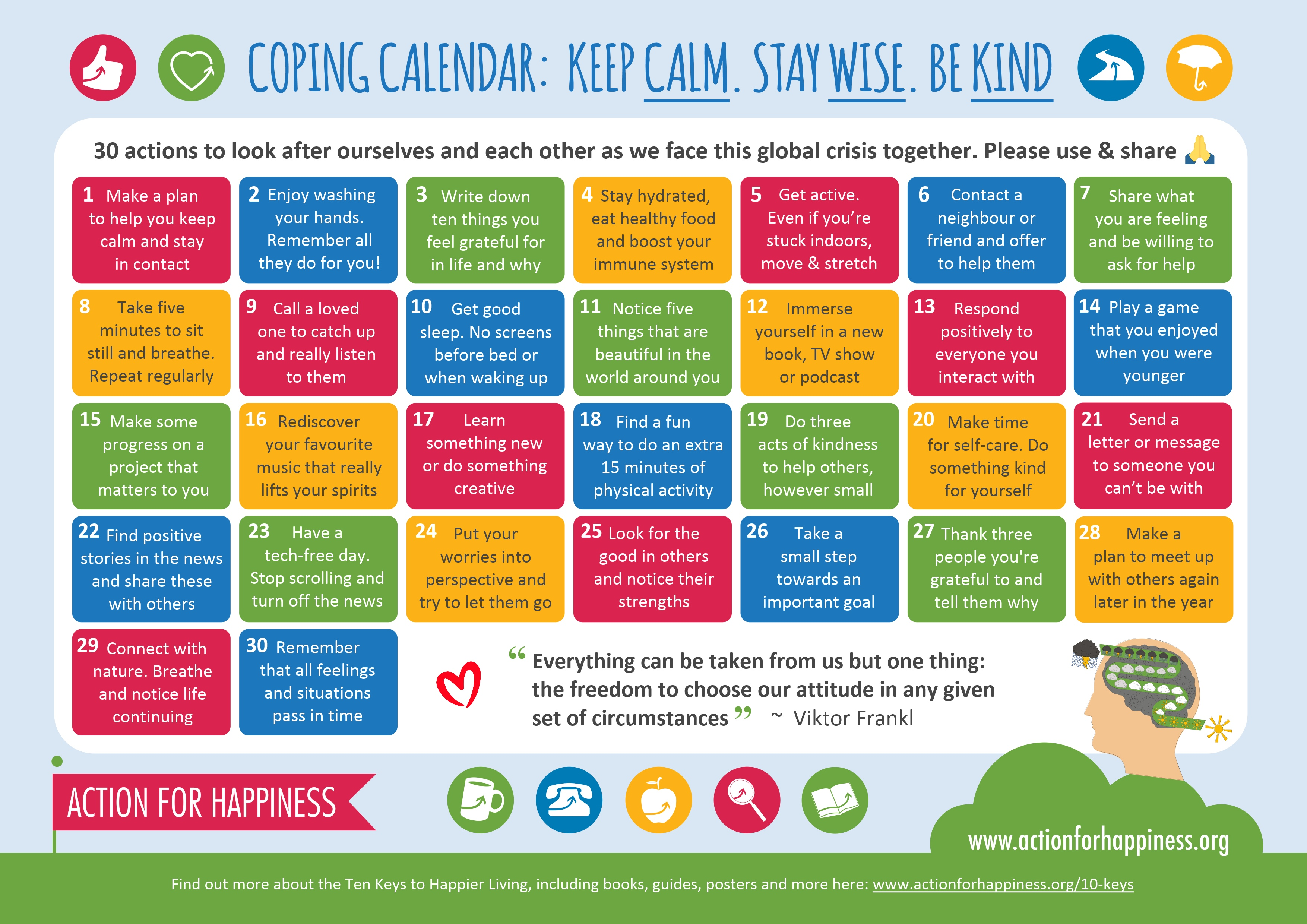 April Coping Calendar